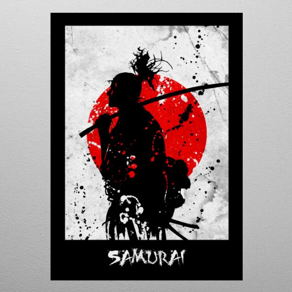 SAMURAI by FARKI15 DESIGN | metal posters - Displate | Displate thumbnail