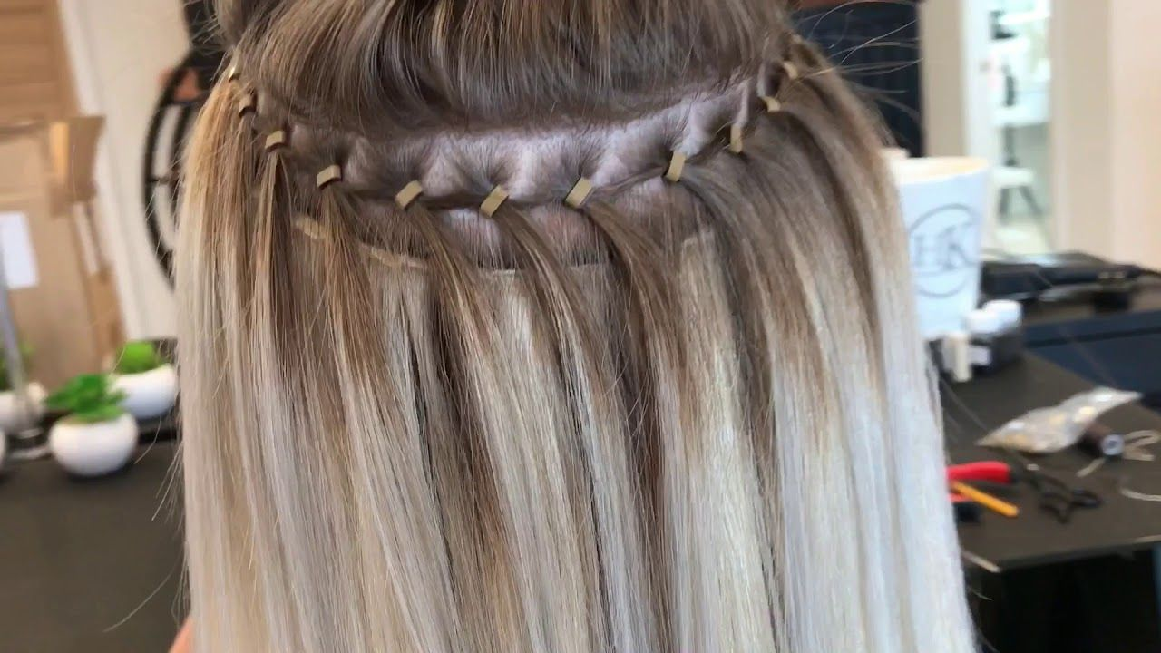 Track Weave Transformation Headkandy Hair Hair Extensions Tutorial Hair Extensions For Short Hair Beaded Hair Extensions