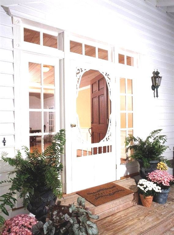 Home Depot 189 00 Georgian Solid Vinyl Screen Door 32 Inch X 80