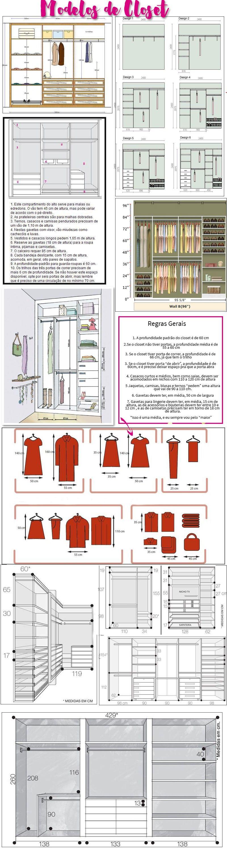 Closet muitas ideias pra montar o seu modelo armario y - Armarios para montar ...
