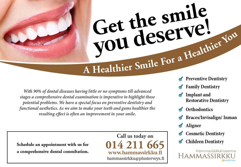 Elegant, Playful, Dental Clinic Advertisement Design for