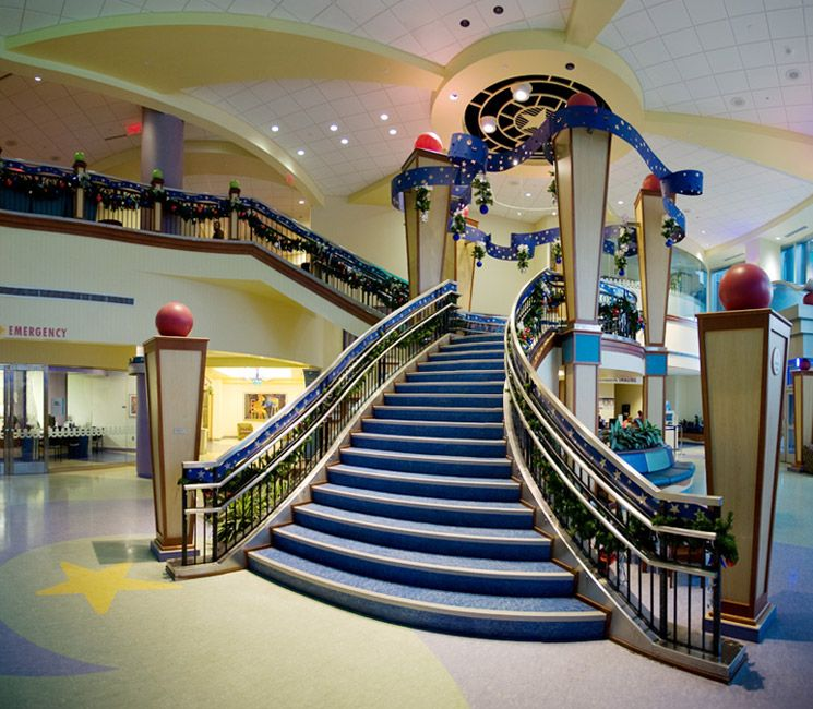 Vanderbilt Children's Hospital grand staircase :) for