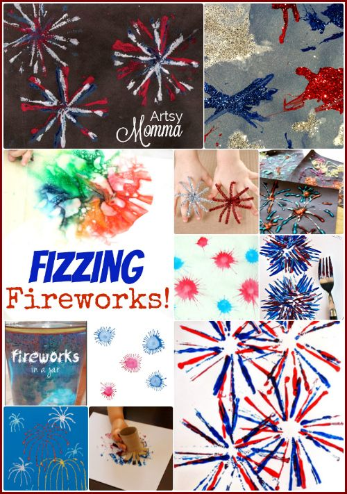 20 Fireworks Crafts for Kids including Sparklers!
