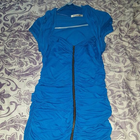 Blue front zipper dress Royal blue dress above the knee worn once still in great condition Dresses Midi