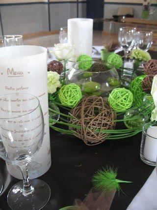 Galets Decor Table Chocolat