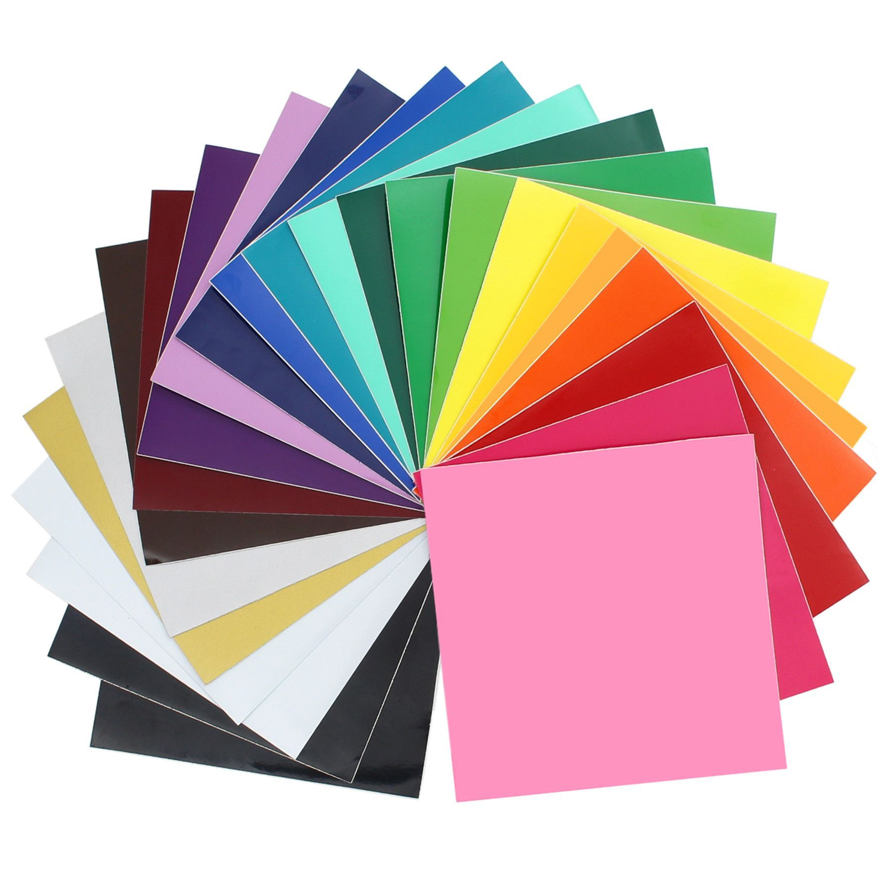 Oracal 651 Vinyl Bundle 12 X 12 24 Assorted Colors With Swatch Book Oracal Oracal Vinyl Vinyl