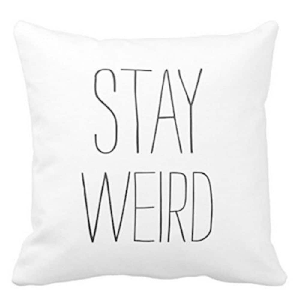 Cotton linen pillow case cushion cover stay weird x multi size