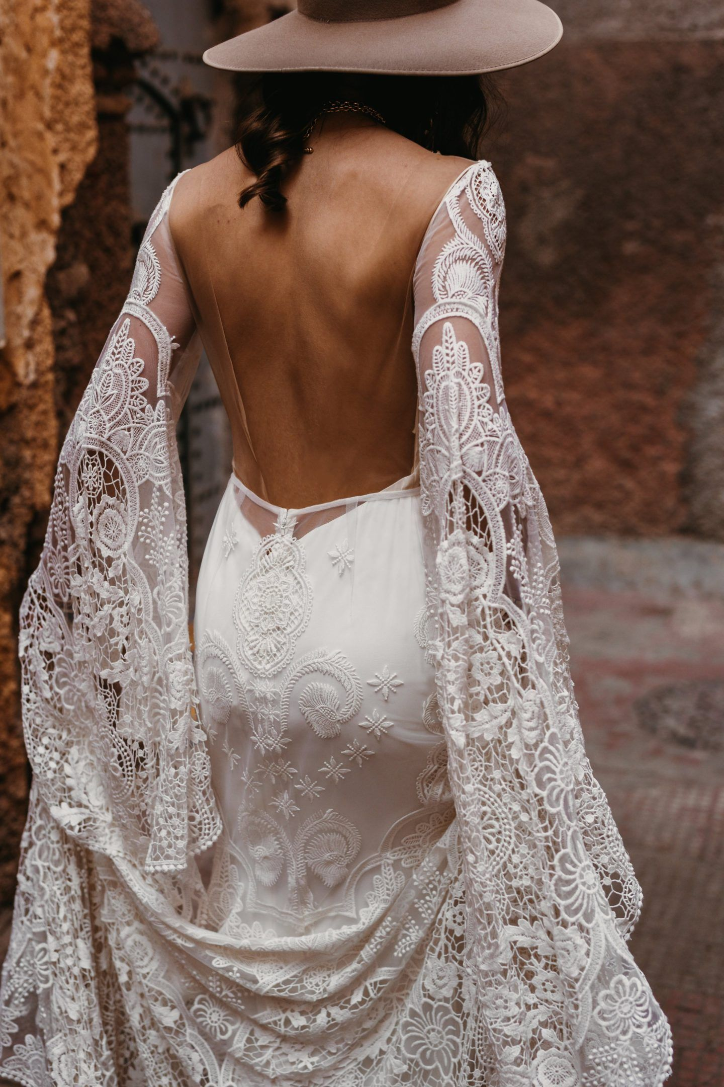 Boho wedding dress with sleeves  Rue De Seine Wild Heart  The White Files  Gowns with The White