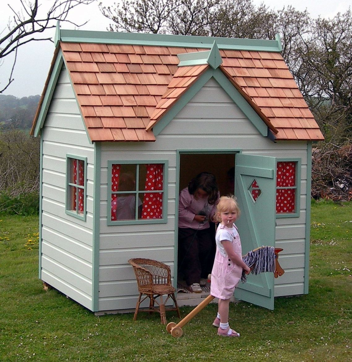 children u0027s wood playhouses otter cottage wooden playhouse for