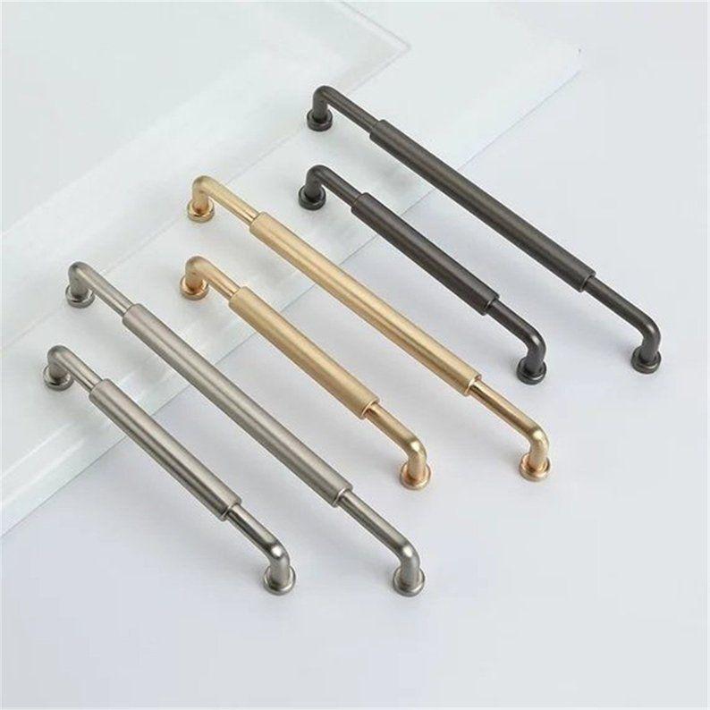 3.78 5 6.3 7.55 Black Drawer Knob Pull Handles Cabinet Door Knobs Handle Pull Dresser Pulls Handles Kitchen Hardware 96 128 160 192 mm