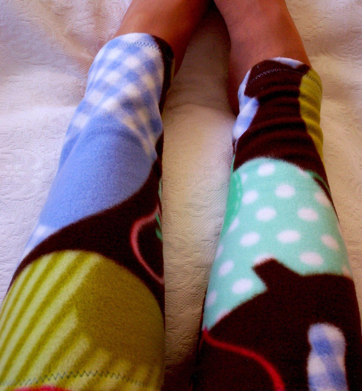 Women's Warm Fleece Leg Warmers, Leg Warmers, Dance Warm