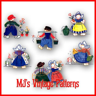 Vintage Dutch Applique Embroidery Pattern | eBay