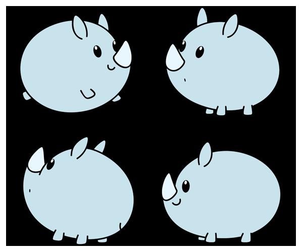 Chibi Rhino Cute Cartoon Drawings Cool Cartoon Drawings Cute Drawings
