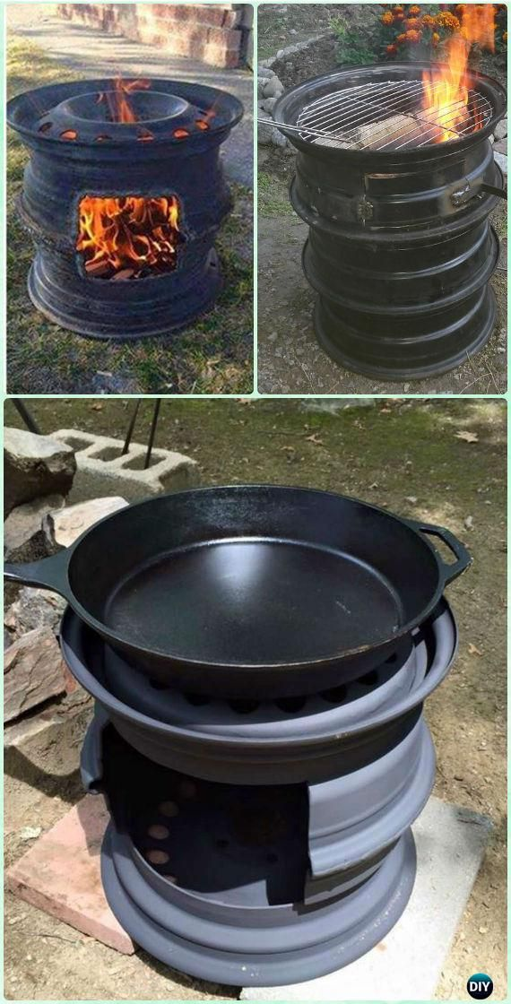 Diy Backyard Bbq Grill Projects Instructions Fire Pit
