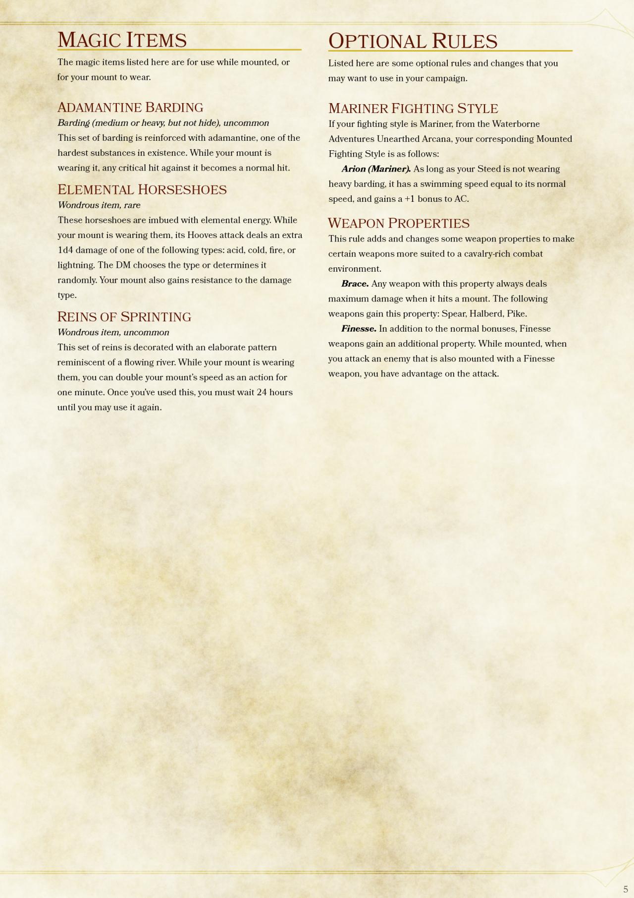 DnD 5e Homebrew — Mounted Combat Part  1    | DnD Homebrew