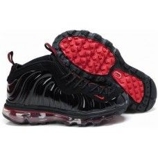 Womens Nike Air Foamposite One Air Max Shoes in black red ... 6b6124db02