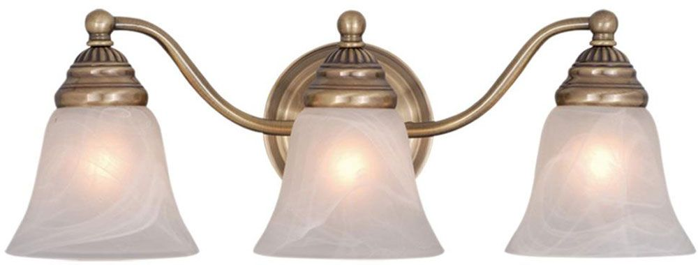 Vaxcel Vl35123A Standford Antique Brass 3Light Bathroom Lighting New Luxury Bathroom Lighting Fixtures 2018
