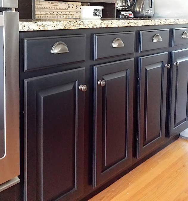 Painted Kitchen Cabinets With General Finishes Lamp Black Milk Paint And D.