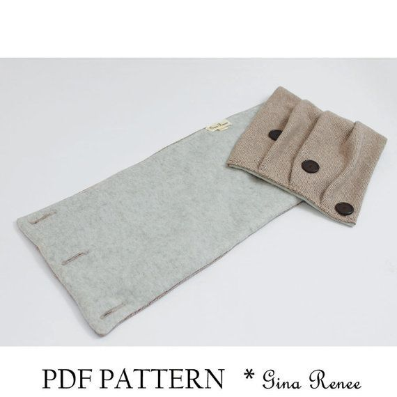 Infinity Scarf Sewing pattern. Scarf PDF sewing pattern. Unisex ...