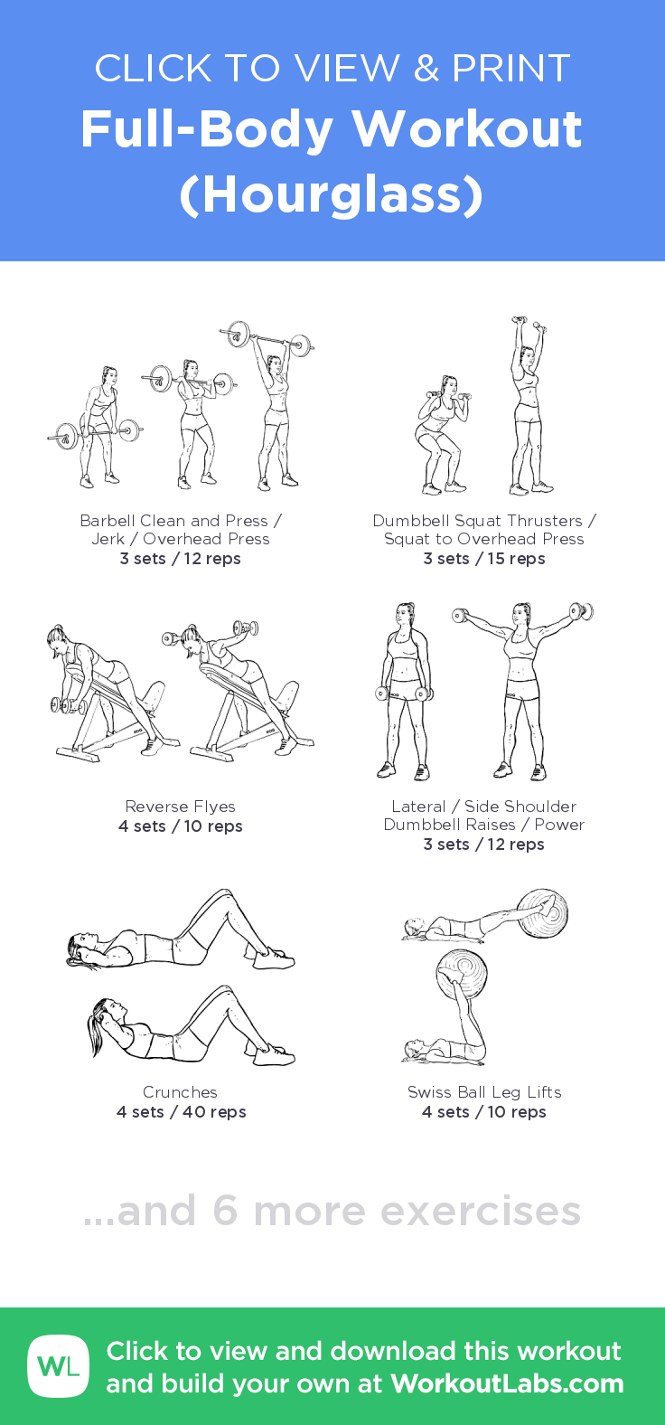Full-Body Workout (Hourglass) – click to view and print this