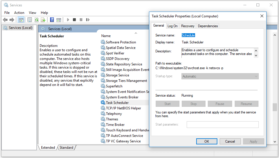 7 Tips To Fix Task Scheduler Not Running Working Windows 10 Windows 10 Task Windows Service