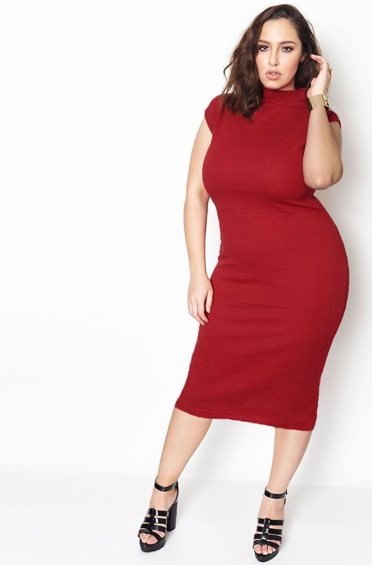 Burgundy Te Amo Textured Midi Dress Jada Sezer4 1 Dresses Plus