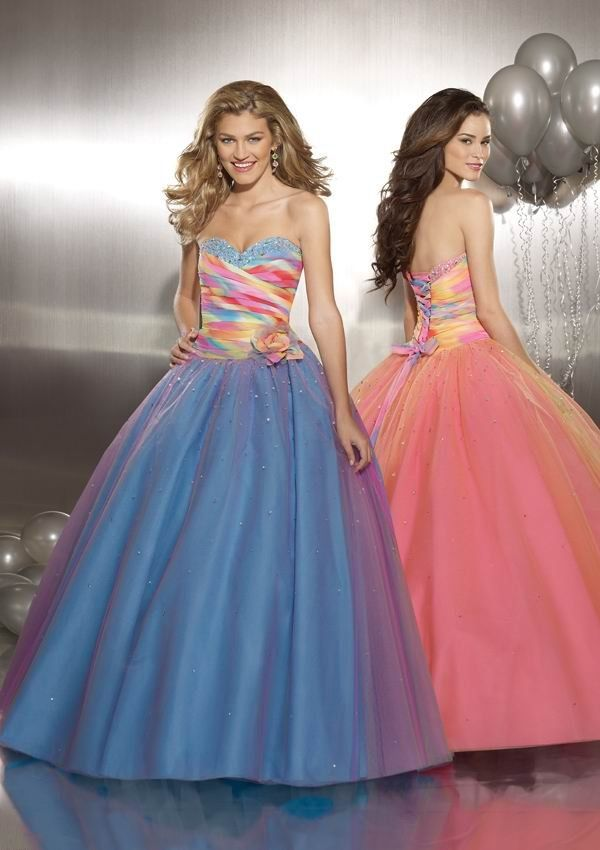 aeef3d43d5d Affordbale Multi-Color Ball Gown Long Prom Gowns Party Dresses Dodger Blue