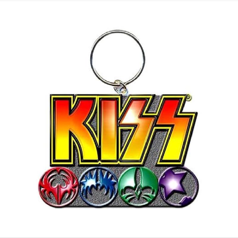 Kiss Logo Metal Keyring Kiss Logo Logo Icons Graphic Design Posters