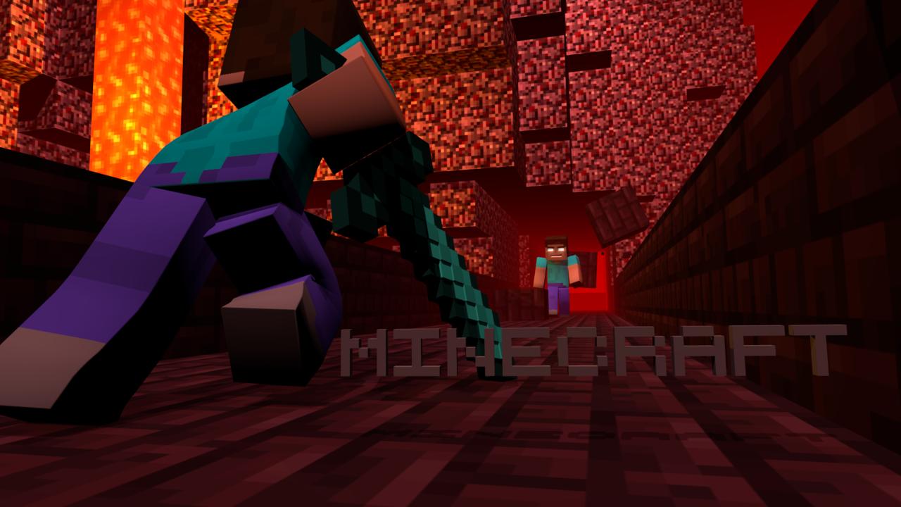 Minecraft Herobrine Wallpaper 3BD