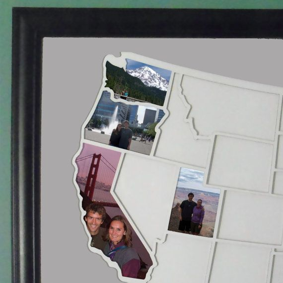 Us Map Picture Frame 50 States Photo Map   USA | Travel collage, Photo maps, Crafts