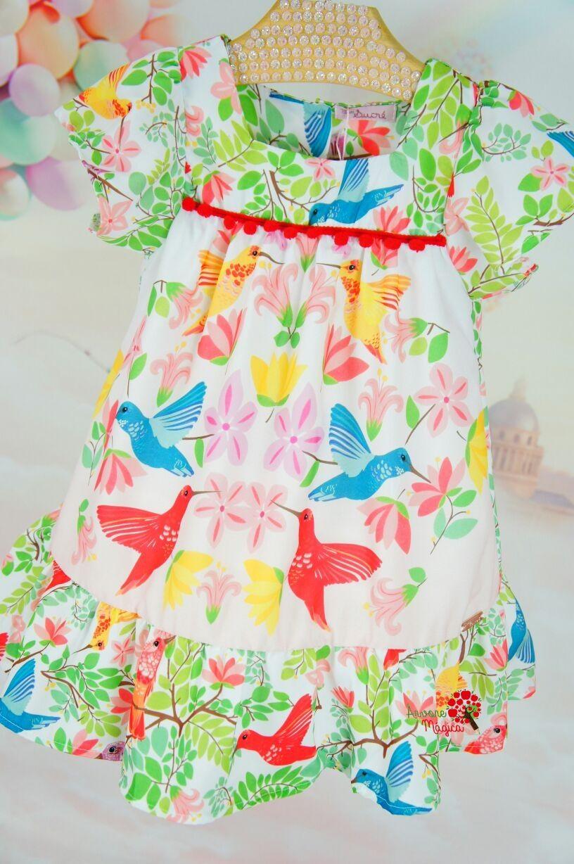 c5e500713 Vestido Infantil Beija Flor Vermelho Mon Sucré Vestidos De Verão De Menina
