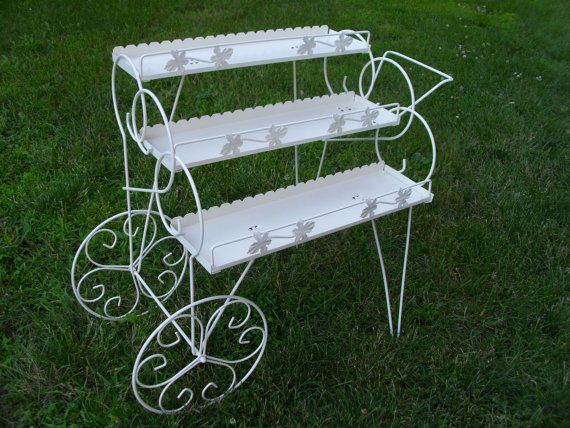 This Is Just Like The Vintage Metal Plant Stand Wheeled Cart That I Found On Side Of Road In A Trash Pile Today Cannot Wait To Paint It