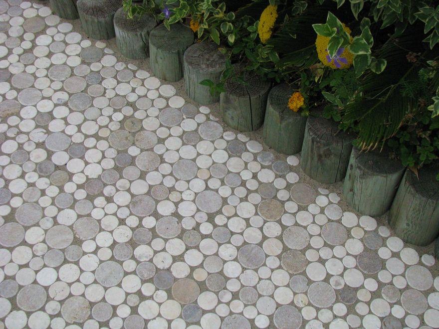 Moon Stone Mosaic Tile Outdoor Path Stone Mosaic Tile Tiles