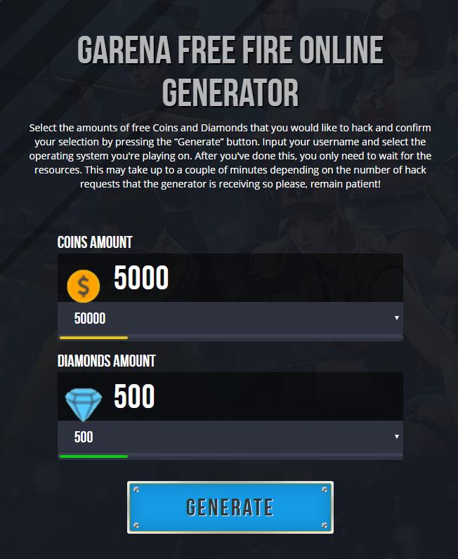 Free Fire Online Generator Tool : online, generator, Freefire, Diamonds