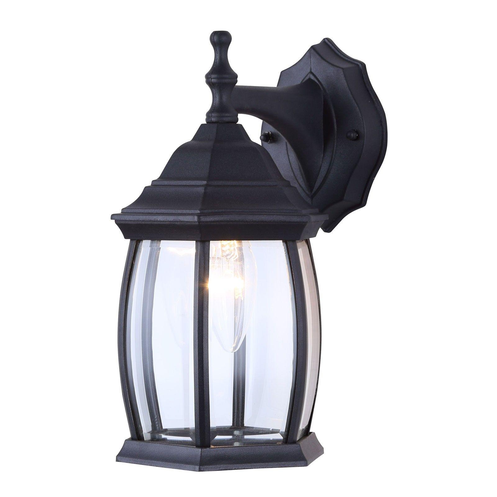 Canarm Iol12bk Exterior Lighting Lantern Wall Mount Sconce Light