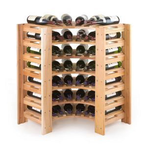 Wine Rack Corner Cabinet Design