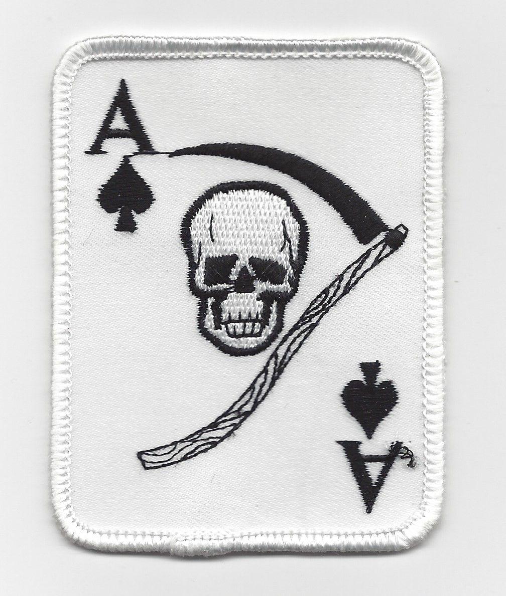 Ace Of Spades Death Card Vietnam War Era Patch U.S. Army