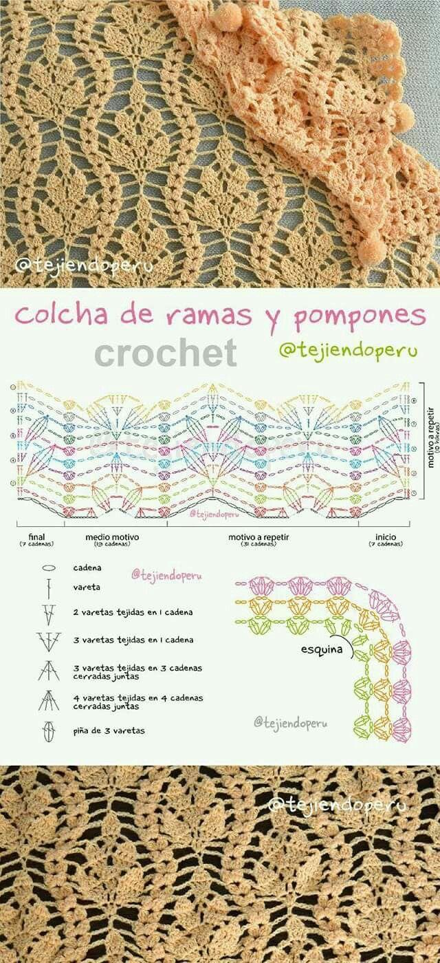Pin de Maria Casas en Crochet   Pinterest   Puntos crochet, Puntadas ...