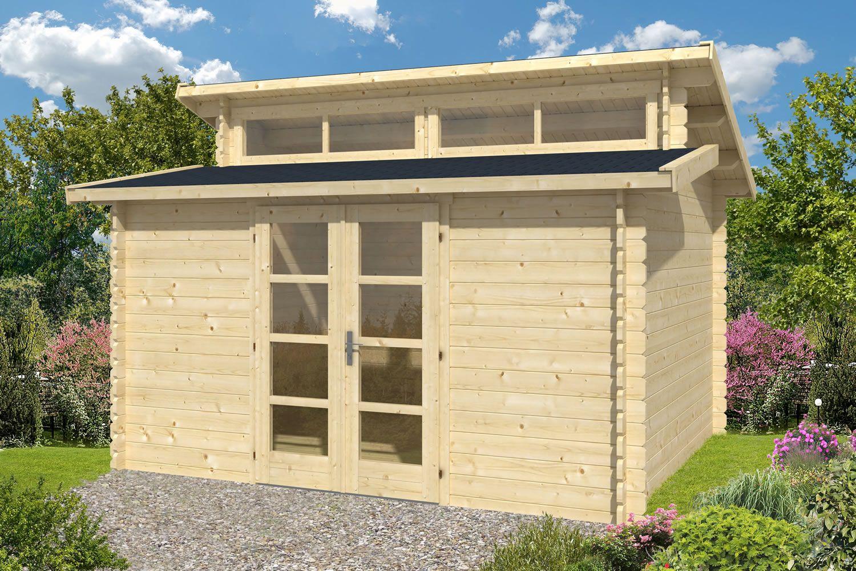 Best Hans Log Cabin 4 0X3 4M Dual Pitch Roof Log Cabin 400 x 300
