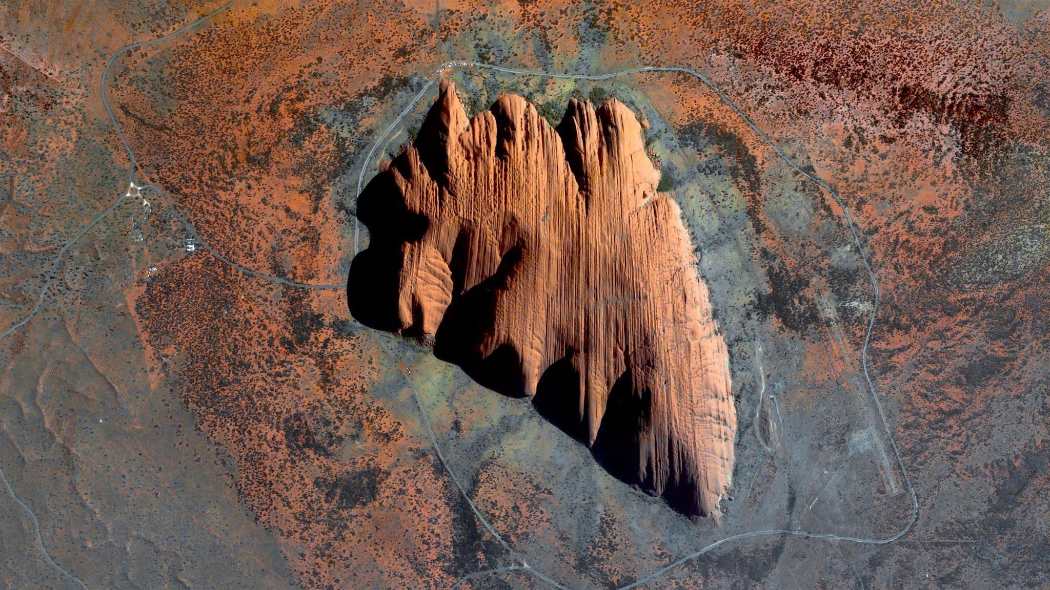 Australia's Uluru (aka Ayers Rock) An inselberg