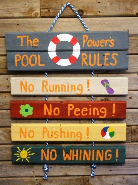 Pool Rules Sign For The Home Pinterest Pool Rules Sign And Pool Rules