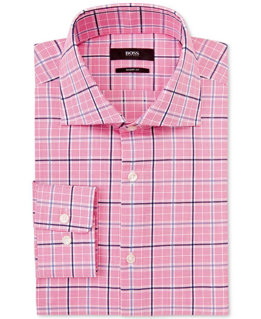 Boss By Hugo Boss Check Dress Shirt Camisas Ropa Casual Ropa