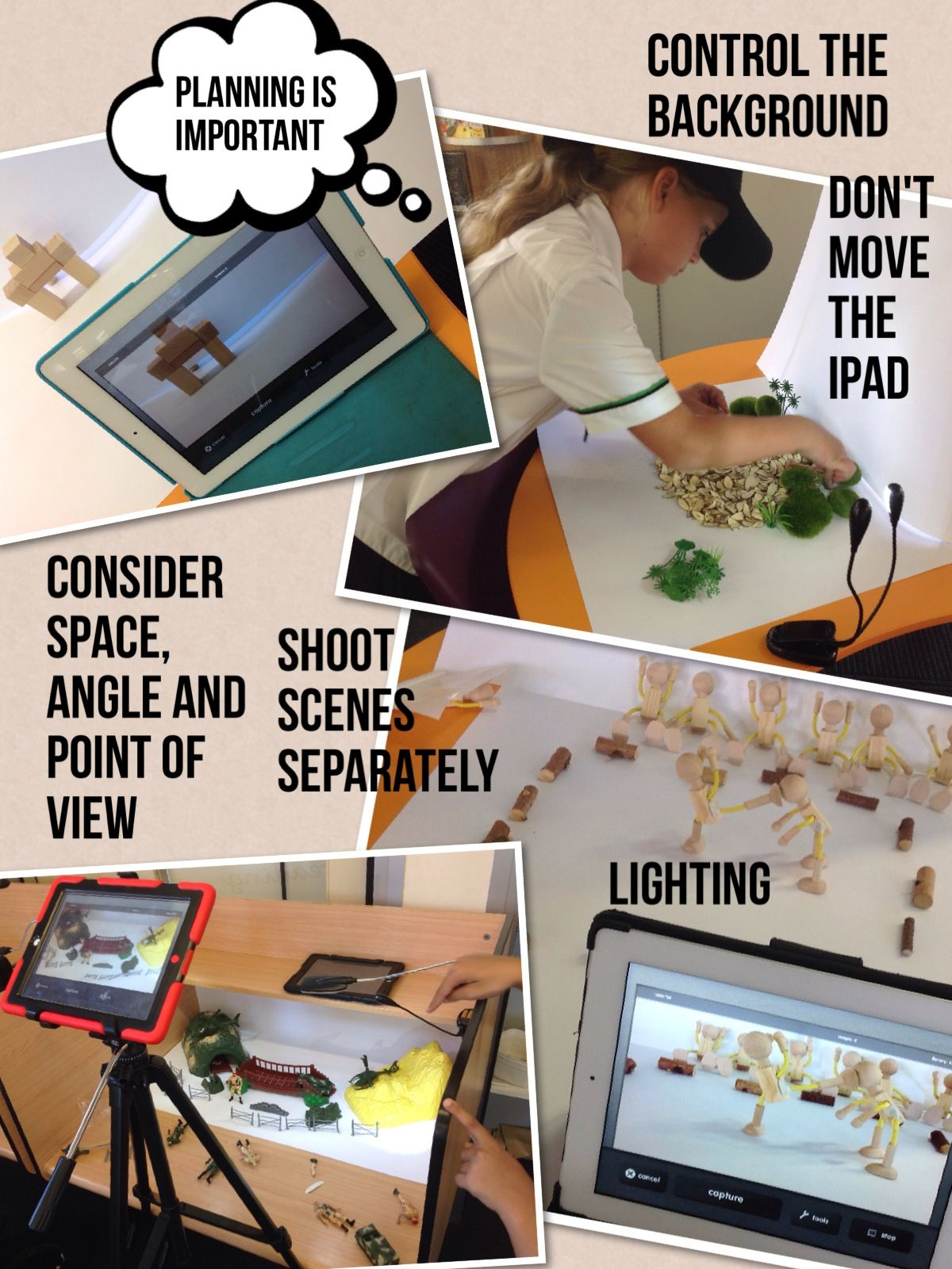 Stopmotion guidelines with an iPad in the Art room Art room