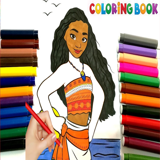 Painting Moana Coloring Book Drawings Learning Apk Version 1 1 Apk Plus Book Drawing Moana Coloring Coloring Books