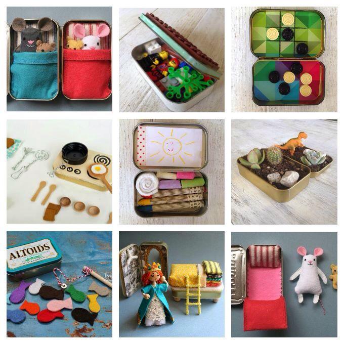 Speelgoed Voor In Een Blikje Doosje Speelgoed In Het Mini Klein Poppenbedje Speelgoed Voor Onderweg In De Auto Speelgoed Kinderactiviteiten Diy Speelgoed