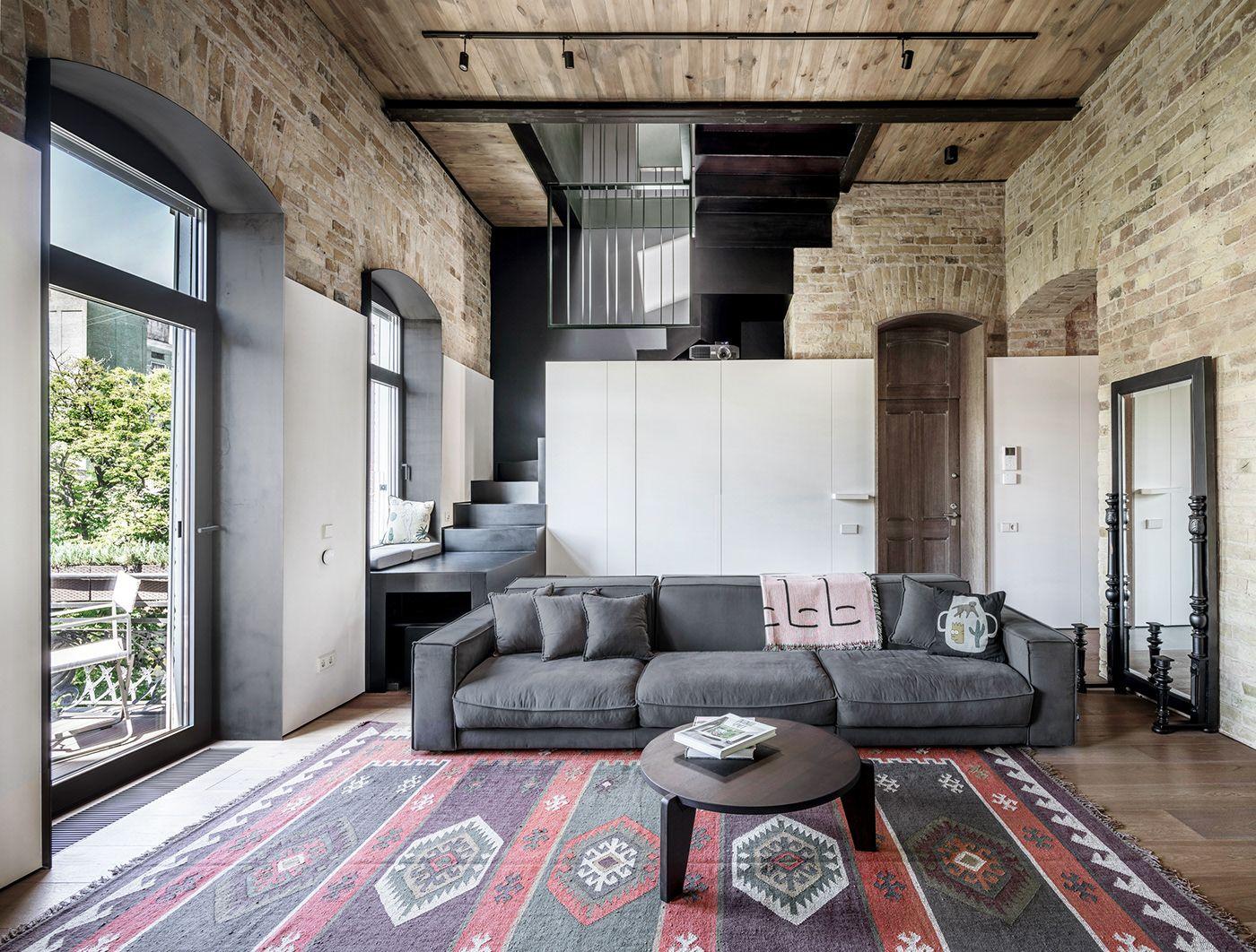 Un loft design aux murs de briques planete deco a homes world