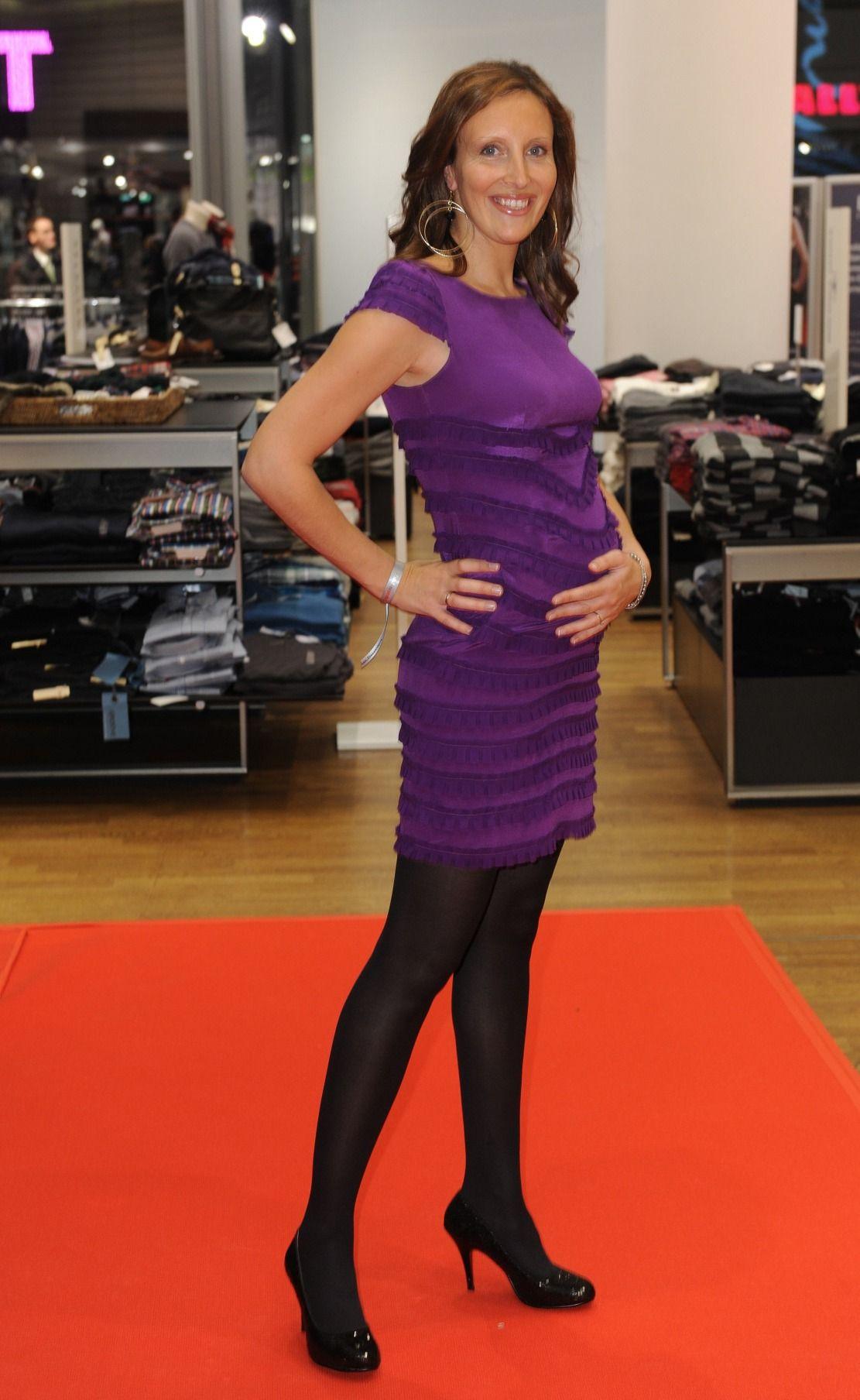 Roberta Bieling Celebrity Pictures High Neck Dress