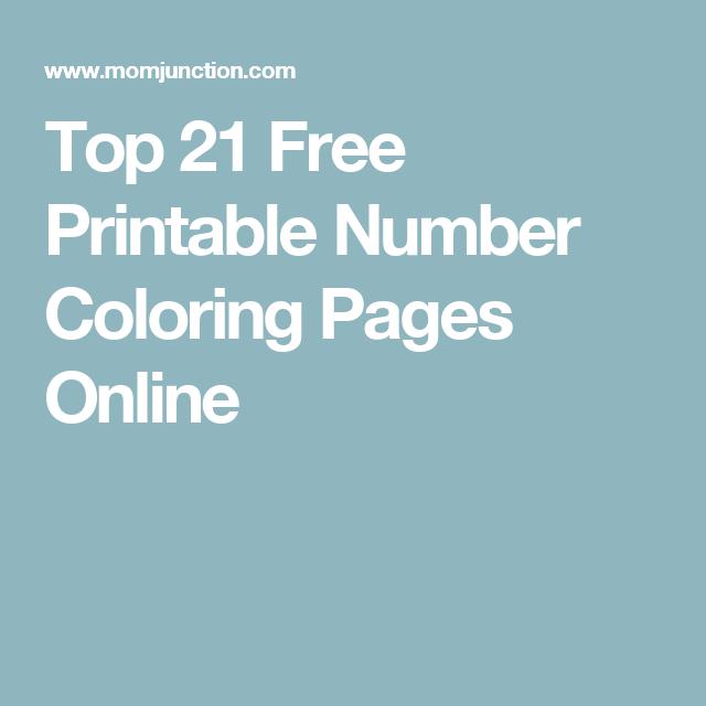 Top 21 Free Printable Number Coloring Pages Online | Free printable ...
