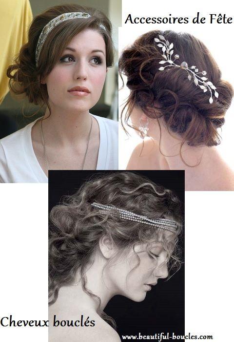 Idées coiffures de réveillon pour cheveux bouclés ! http//beautiful,boucles .