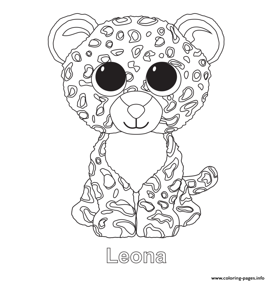 Print Leona Beanie Boo Coloring Pages Penguin Coloring Pages Unicorn Coloring Pages Beanie Boo Birthdays